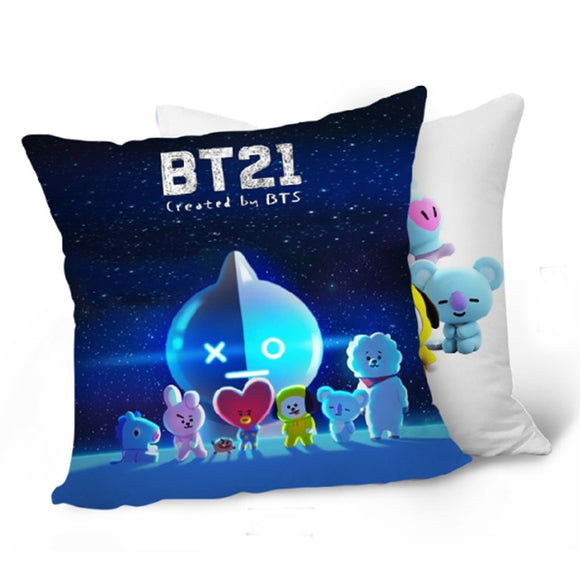 BTS BT21 Character Pillow Case Cover