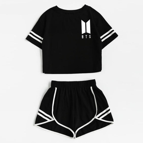 BTS Love Yourself Crop Top and Short Set