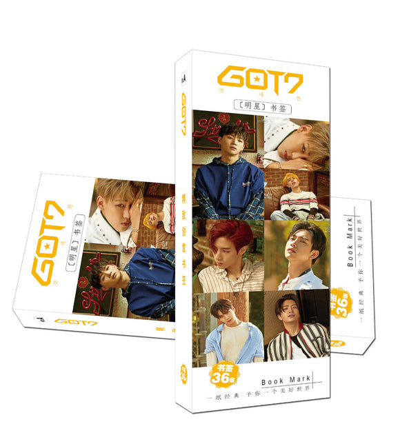 GOT7 7 for 7 Bookmarks 36pcs/set