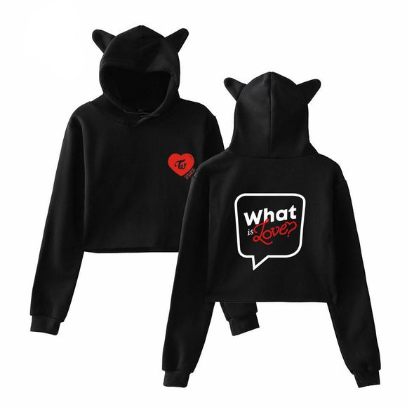 Twice What is Love Cropped Hoodie