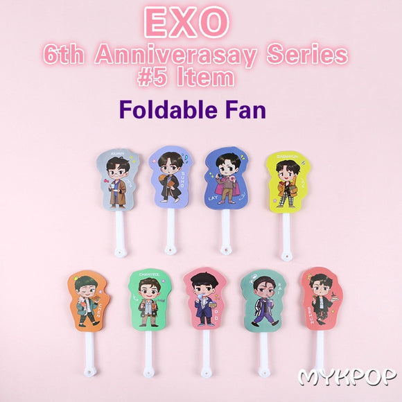 EXO 6th Anniversary Foldable Fan