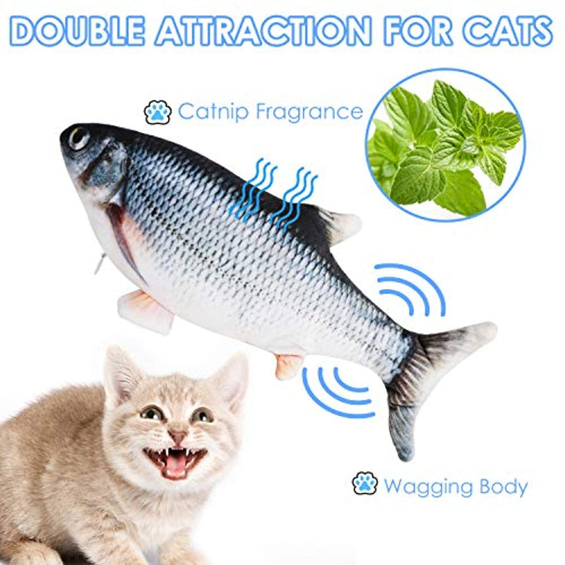 Electric Fish Cat - Realistic  with USB Charged