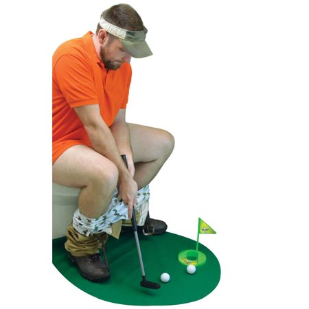 Toilet Golf Game - Enjoy Golfing in the Bathroom. Funny Gift