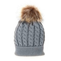 Mom And Baby Winter Hat/Beanie with Pompon