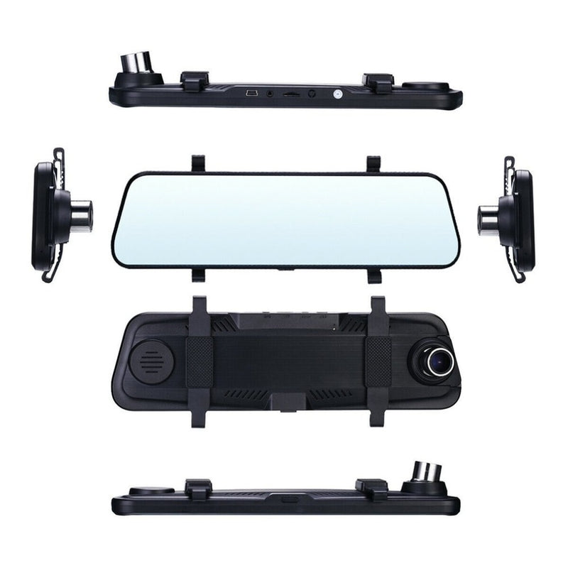 10 inches Rearview Mirror for Car    HD Dual Lens Car DVR Dash Cam Video  Recorder