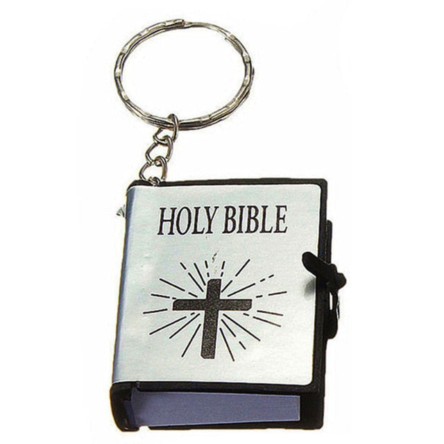 English Christian Bible Mini Keychains