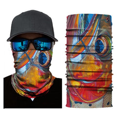Half Face Cover Sea Style Bandana/Mask with Sun Protection for Outdoors Sports Fishing