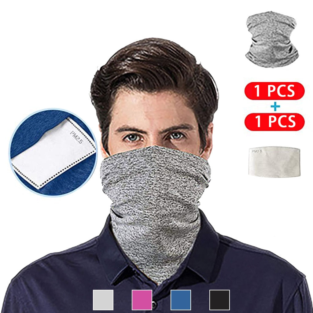 Multi-functional Headband/Scarf Neck Cover With Safety Filter Outdoors/Cycling/Fishing Windproof Bandana