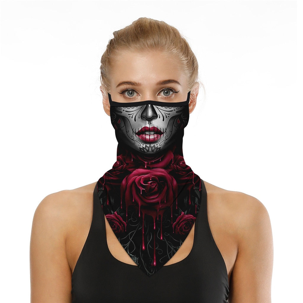 3D Print Halloween Face/Mouth Cover - Outdoor Hiking Scarf