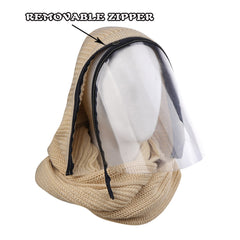 Winter Beanie / Scarf with Transparent Face Shield/Mask for  Men / Women