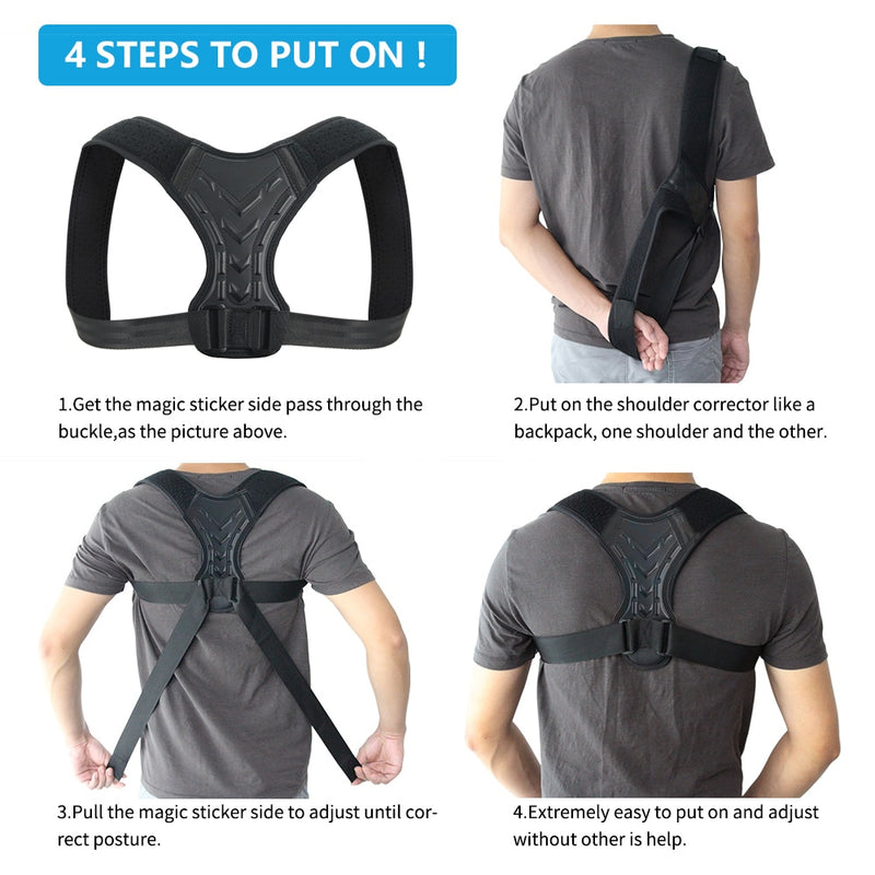 Posture Correction Clavicle Support Upper Back Brace Straightener Neck Back Shoulder Pain Relief