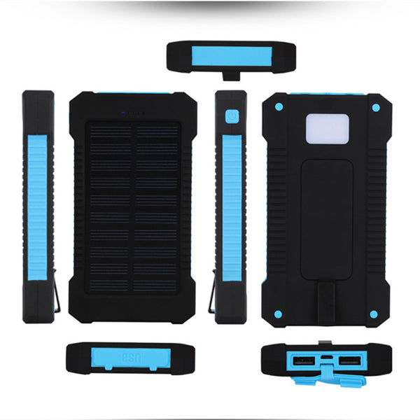 20000mAh Solar Charger Dual USB Battery Pack Portable Phone Solar Power Bank