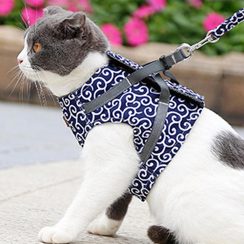 Small Dog and Cat Harness - Vest with Leash