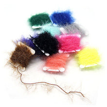 Load image into Gallery viewer, SAMSFX Fly Tying Materials Dubbing Fishing Fibers UV Polar Chenille Assortment - SAMSFX