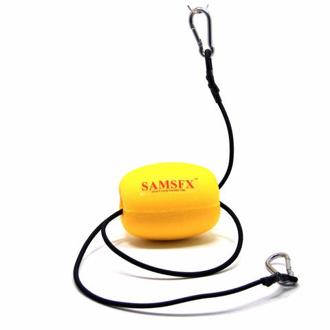 Kayak Drift Anchor Tow Line Nylon Rope with EVA Buoy Stainless Clips Accessory - SAMSFX