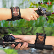 Load image into Gallery viewer, SAMSFX Cast Aid Fishing Belt Rod Holder Camouflage Wrist Wraps