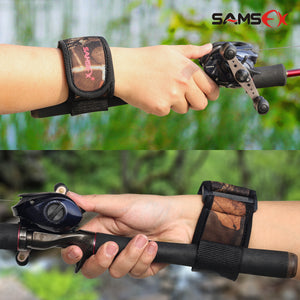 SAMSFX Cast Aid Fishing Belt Rod Holder Camouflage Wrist Wraps