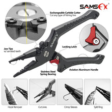 Load image into Gallery viewer, Locking Aluminum Fishing Pliers with Camo Sheath