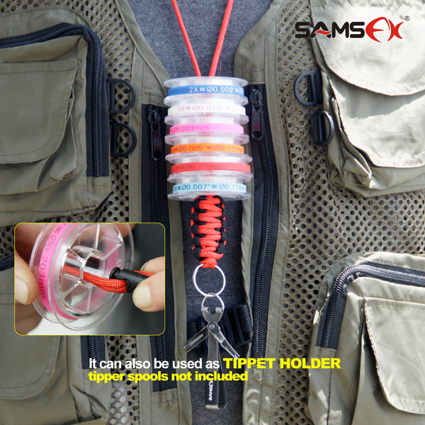 SAMSFX Quick Knot Tool Tie Fast Fishing Clippers Nail Knot Tyer with Neck Breakaway Lanyard Dropshipping - SAMSFX