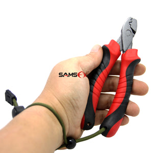 SAMSFX Forged Steel Hand Crimper Tool Fishing Wire Leader Crimping Pliers Swager - SAMSFX