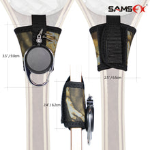 Load image into Gallery viewer, SAMSFX Fishing Tape Measure Zinger and Neoprene Straps Attaches to Fly Fishing Landing Net - SAMSFX