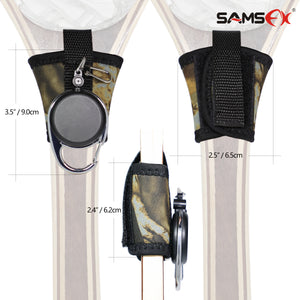 SAMSFX Fishing Tape Measure Zinger and Neoprene Straps Attaches to Fly Fishing Landing Net - SAMSFX
