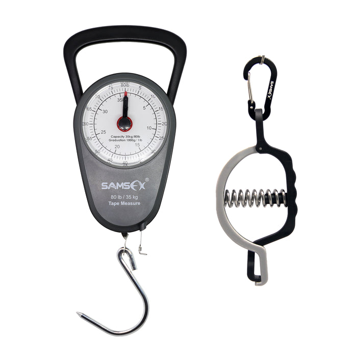 SAMSFX Fishing Mini Fish Lip Grip Gripper Clamp Luggage Travel Mechanical Hanging Scale Pocket Portable Weight Tool Steelyard - SAMSFX
