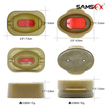Load image into Gallery viewer, SAMSFX Fishing Inline Flat Method Feeder and Mould Set- 4 Feeders and 2 Moulds - SAMSFX