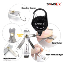 Load image into Gallery viewer, SAMSFX Fast Nail Knot Tying Tool 4 in 1 Fly Fishing Clippers Nippers Line Cutter w/Fish Hook Sharpener - SAMSFX