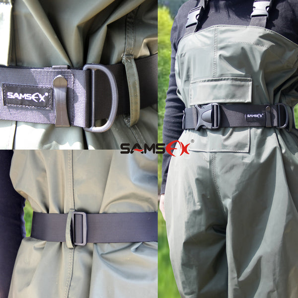 SAMSFX Adjustable Fishing Wader Belt Wading Belts Straps for Surf Casting Kayak Fishing Accessories - SAMSFX