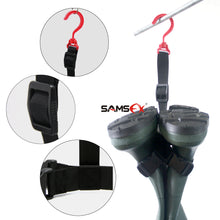 Load image into Gallery viewer, SAMSFX Fishing Wader Boot Hanger Strap Belt for Drying Wader Rack Storage - SAMSFX