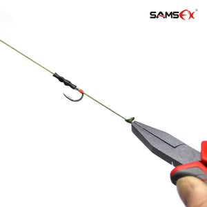 SAMSFX Flat Nose Pliers Knot Puller and Fishing Hook Rigs Tying Tools - SAMSFX
