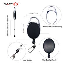 Load image into Gallery viewer, Fly Fishing Line Clippers Nippers Tools Combo with Retractor Zinger - SAMSFX