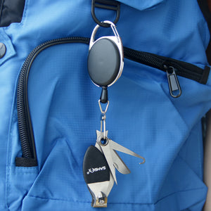 Fly Fishing Line Clippers Nippers Tools Combo with Retractor Zinger - SAMSFX