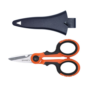 SAMSFX Fishing Heavy Duty Braid Scissors with Sheath - SAMSFX