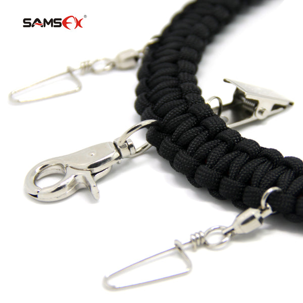 SAMSFX Fly Fishing Lanyard w/ Fly Dryer and Zinger Retractors - SAMSFX