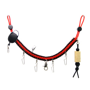 SAMSFX Fly Fishing Wader Lanyard w/ Fly Dryer and Zinger Retractors - SAMSFX