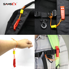 Load image into Gallery viewer, SAMSFX 5 pieces Safety Marine Whistle with Floating Lanyard for Emergency Survival Rescue - SAMSFX