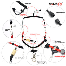Load image into Gallery viewer, SAMSFX Fly Fishing Lanyard w/ Fly Dryer and Zinger Retractors - SAMSFX
