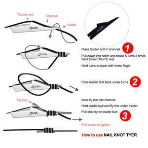 Quick Knot Tool, Loop Tyer, Hook Remover, Hair Rig Tying Tool and Zinger Retractors