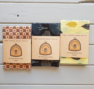 One Large Organic Beeswax Wrap