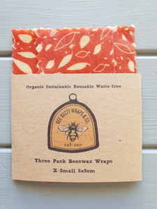 X-Small 3 Pack Organic Wraps