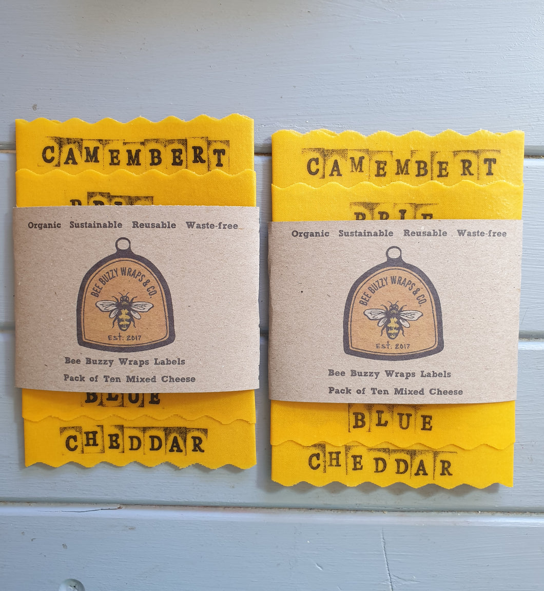 Bee Buzzy Wraps Labels - Mixed Cheese
