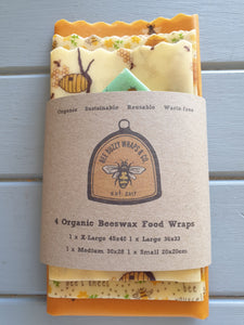Bee-utiful Bee's 4 Pack Organic Wraps