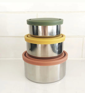 Ever Eco Round Nesting Containers Autum Collection 3 Piece Set