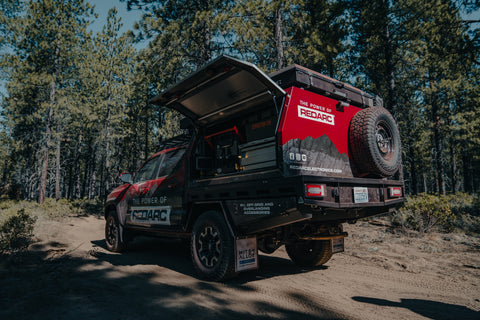 The Tacoma ready for use in the forest