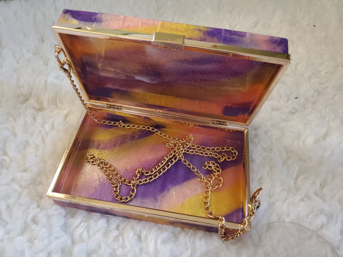 Handmade Resin Clutch bag
