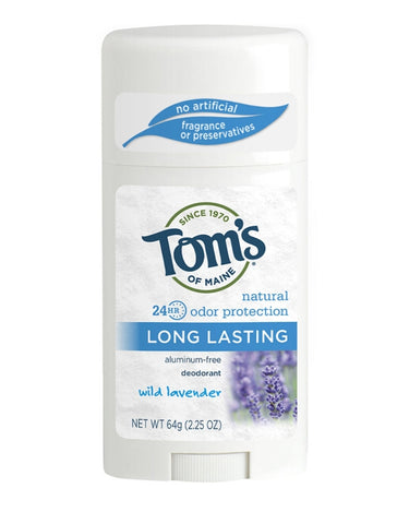 TOM'S OF MAINE LAVENDER LONG LASTING DEODORANT STICK 2.25 OZ.