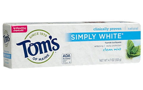 TOM'S OF MAINE CLEAN MINT TOOTHPASTE 4.7 OZ.