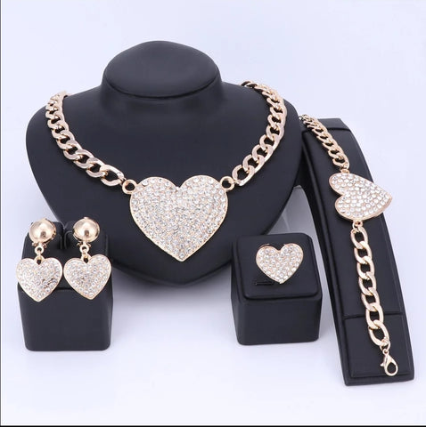 Crystal Rhinestones Heart Shape Knecklace
